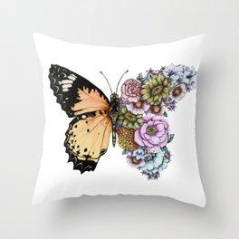 Butterfly in Bloom II Throw Pillow