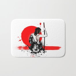 Trash Polka - Female Samurai Bath Mat
