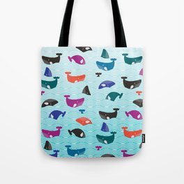 Whale Yes! Waves Tote Bag