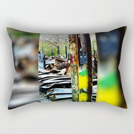 The Beauty in Disaster Rectangular Pillow