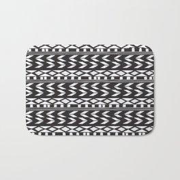 Black & White Pattern Bath Mat