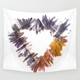 DIAMOND HEART - GOLD Wall Tapestry
