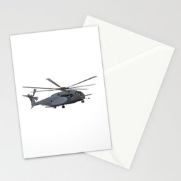 Military MH-53 Helicopter Stationery Cards