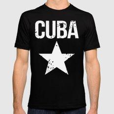 CUBA Mens Fitted Tee MEDIUM Black