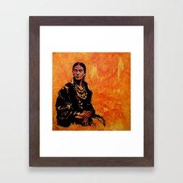 FRIDA KAHLO - the mistress of ARTs - original painting Framed Art Print