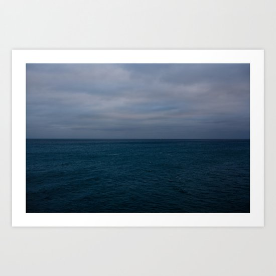 Looking out from Brighton Pier. Art Print
