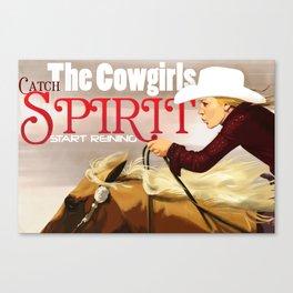 Reiner Cowgirl Canvas Print