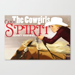 Reiner Cowgirl Canvas Print