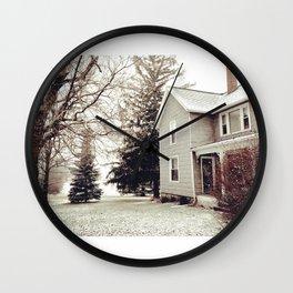 Winter Wonderland in Michigan Wall Clock