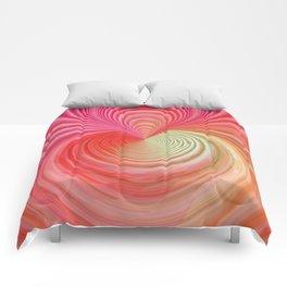 Pastel energy swirl Comforters