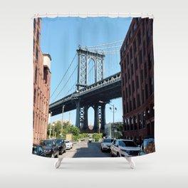 manhattan bridge dumbo Shower Curtain
