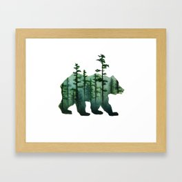Bear and Forest Framed Art Print