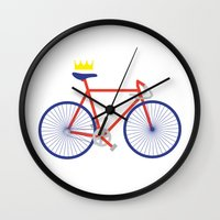 bike Wall Clocks featuring Bike by Keep It Simple