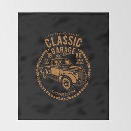classic garage Throw Blanket