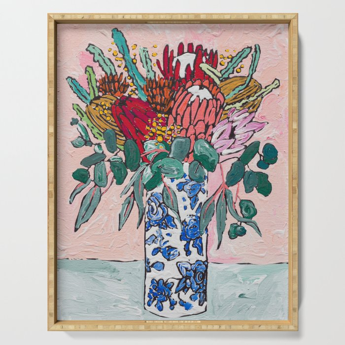 Australian Native Bouquet of Flowers after Matisse Serving Tray