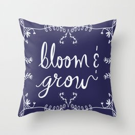 Bloom and Grow Throw Pillow