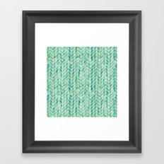 Caribbean green watercolor pattern Framed Art Print