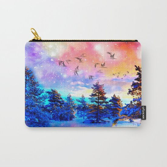 Dancing Birds Carry-All Pouch