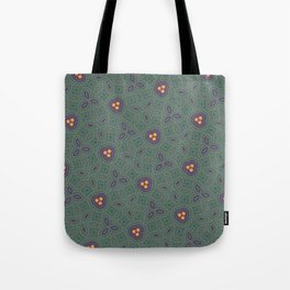 Bohemian Peacock and Leaf Thread Weave Pattern \\ Yellow Green Blue Purple Color Scheme Tote Bag