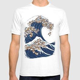 The Great Wave of Shiba Inu T-shirt