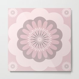 Blushing Pink Flower Metal Print