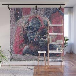 GlitzyAnimal_OrangUtan_001_by_JAMColors Wall Mural