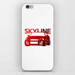 Nissan Skyline GT-R  - classic red - iPhone Skin