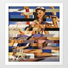 Glitch Pin-Up Redux: Sophia Art Print