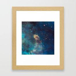 Stellar Jet in the Carina Nebula Framed Art Print