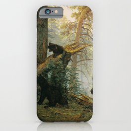 Morning in a Pine Forest by Shishkin and Savitsky (1889) iPhone Case