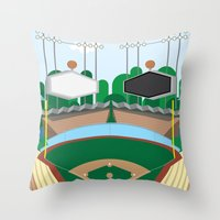 dodgers Throw Pillows featuring Dodger Stadium by Eric J. Lugo