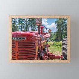 Front of Farmall Tractor Framed Mini Art Print