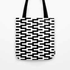 Black & White Zigzag Tote Bag