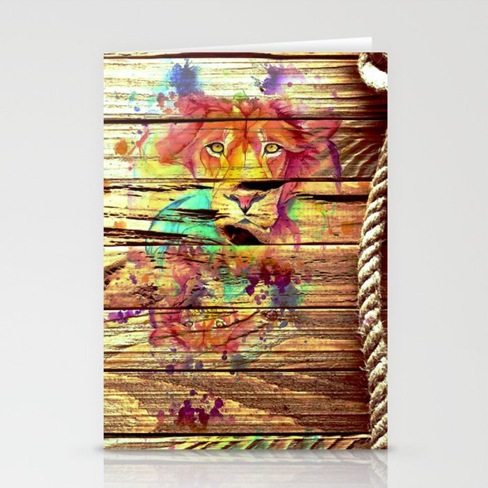 Colors & Lions Stationery Cards