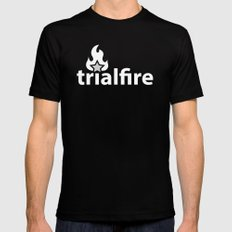 TrialFire Mens Fitted Tee X-LARGE Black