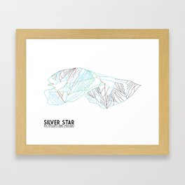 Silver Star, BC, Canada - Minimalist Trail Art Framed Art Print