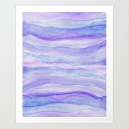 Ultra Violet Watercolor Layers Art Print