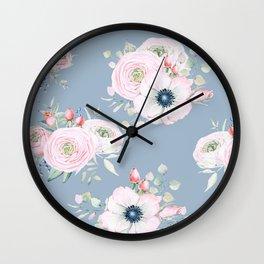 Dog Roses #society6 #buyart Wall Clock