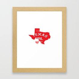 This Texas Girl Loves Country Music Musical Lovers Framed Art Print