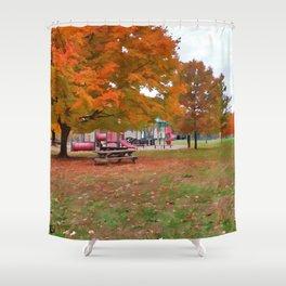 Autumn Playground Shower Curtain