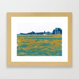 Seaview Kingsway in Turquoise Framed Art Print