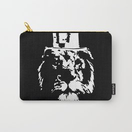 Lion wearing cylinder top hat Carry-All Pouch