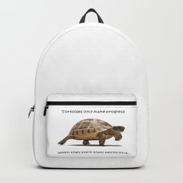 Tortoises Only Make Progress When They Stick Their Necks Out Backpack