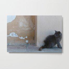 Grecian Cat Metal Print