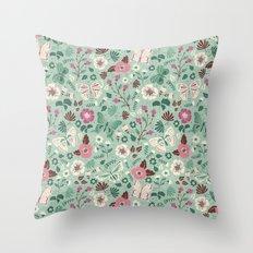 Garden Butterflies Throw Pillow
