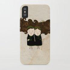 Gemini Girl iPhone X Slim Case