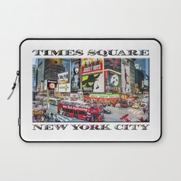 Times Square NYC (poster edition) Laptop Sleeve