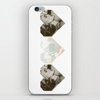 jessica lange iPhone & iPod Skins featuring Jessica Lange Heart by NameGame