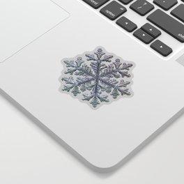 Real snowflake - Hyperion black Sticker