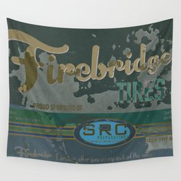 SRC Preparations Firebridge Tires Vintage Poster No1 Wall Tapestry